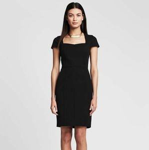 Banana Republic Sloan Fitted Black Dress